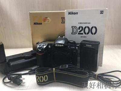 《天津天好》相机行 97新带包装 尼康D200 机身 送原装手柄