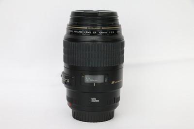 92新二手Canon佳能 100/2.8 USM 微距单反镜头 百微 回收001123州