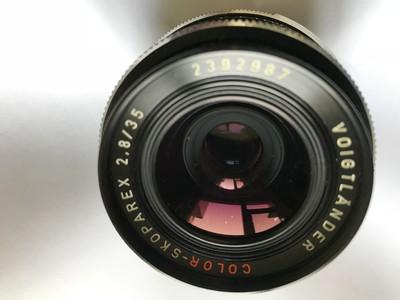 福伦达  COLOR-SKOPAREX 35mm 2.8 新加坡产  铝