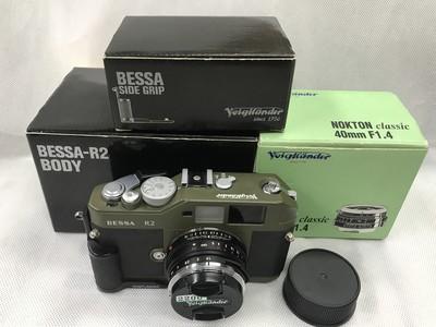 福伦达 BESSA R2军绿色+40/1.4+手柄 徕卡M口 旁轴胶片相机