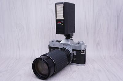 佳能FT配适马80-200镜头闪光灯摄影旅拍婚纱写真影楼外景拍照道具