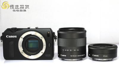 【微单相机一机两镜】佳能EOSM套机(18-55)(22)(MO:0881)*