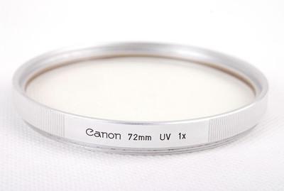 【美品】佳能72mm 1x UV 厚版滤镜50/0.95等镜头适用jp20950