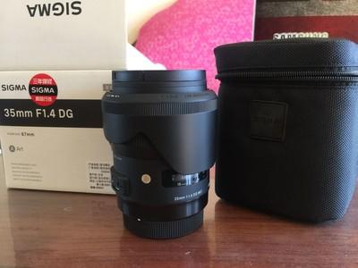 出国行正品适马佳能口单反镜头 35mm f/1.4 DG HSM Art