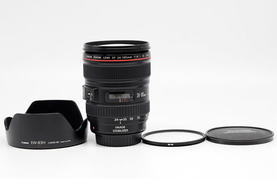 佳能 EF 24-105/4 L IS USM镜头 带罩滤镜#HK7944