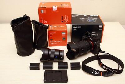 急卖索尼a7m3 / 24-105mm / 55mm f1.8ZA