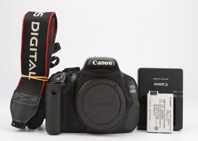 95新二手 Canon佳能 600D 单机 入门单反 回收 013166津