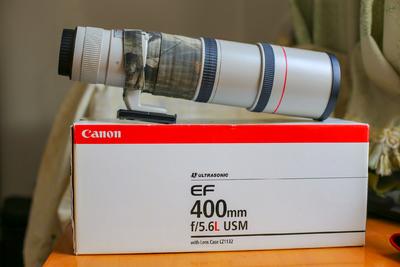出96成新佳能 EF 400mm f/5.6 L USM完美镜面