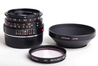 【美品】美能达M-Rokkor 40/2 CLE Leica M口镜头jp21072
