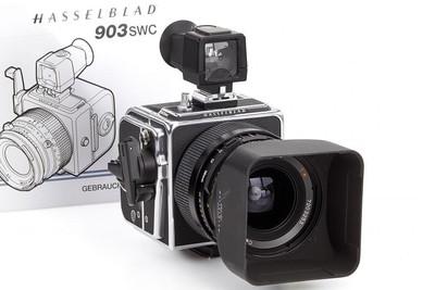 哈苏 Hasselblad 903swc 标钢 带取景器 光罩 A12后背
