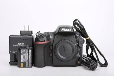 11新二手Nikon尼康 D800 单机 快门28043次 052025津