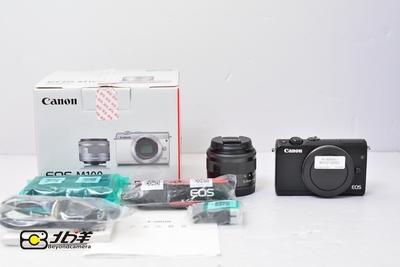99新 佳能EOS M100 15-45/3.5-6.3大陆行货带包装 (BH12130002)