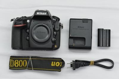 90新二手Nikon尼康 D800 单机 快门20000次 006081州