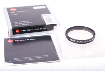 【美品】Leica徕卡E39 UVa黑色滤镜带包装jp21181