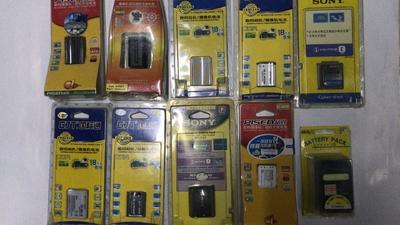 特价处理几块全新库存老数码相机.摄像机电池