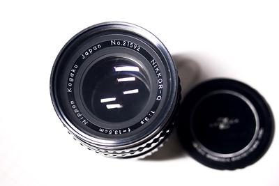 勃朗尼卡S2/EC镜头,135mm F3.5定焦镜头,原装前后盖,人像利器