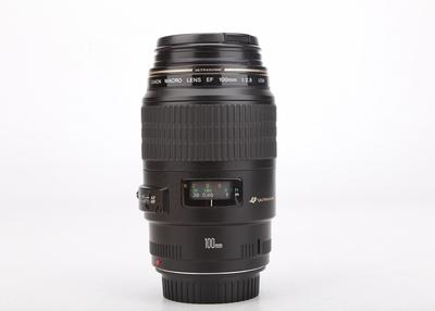 94新二手Canon佳能 100/2.8 USM 微距单反镜头百微回收201201津