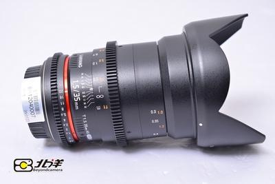 98新 Samyang 三阳 35mm T1.5Ⅱ 佳能口 (BH12040007)