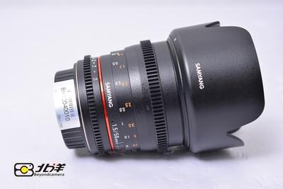 98新 SAMYANG 三阳 50mm T1.5 佳能口 (BH12040010)