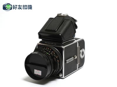 哈苏 500C/M相机 连CF 80mm镜头 A12背 增亮裂像网格对焦屏*90新*