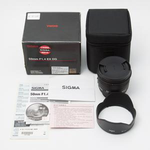 Sigma适马 50/1.4 EX DG HSM 尼康口 仅拆99.99新 新涂层版 #1959