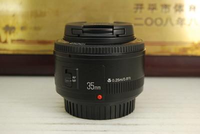 95新 佳能口 永诺 EF 35mm F2 单反镜头 大光圈定焦人像 性价比高