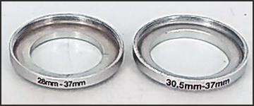 滤镜转接环28mm--37mm  30.5mm--37mm
