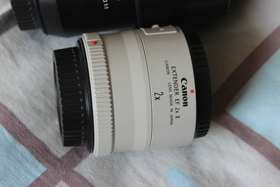 佳能 EF 2.0X II 增倍镜和佳能口防抖微距镜头打包