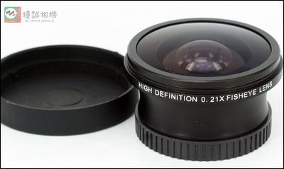 0.21X 鱼眼附加镜头 超广角镜头37mm