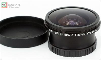 进口 0.21X 鱼眼 广角附加镜头 超广角镜头 180度 后口37mm
