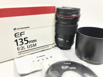 【已售】成色很好 正品佳能135MM/F2 L USM 人像定焦镜