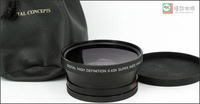 进口0.43X 广角镜 广角附加镜头 72mm