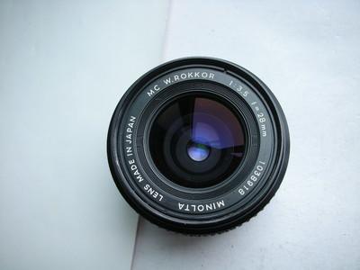 很新美能达MD28mmf3.5罗科金属制造镜头,MD卡口