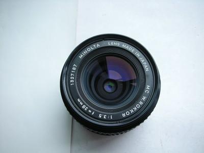 较新美能达MD28mmf3.5金属制造罗科镜头,MD卡口