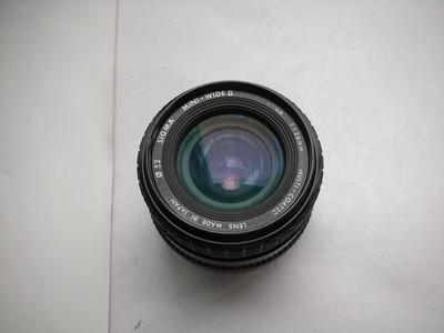 较新适马28mmf2.8金属制造镜头,MD卡口,可配各种相机