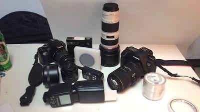 个人一手佳能 6D相机镜头 闪光灯全套摄影器材灭门出售