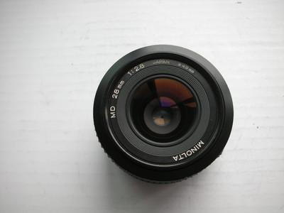 较新美能达MD28mmf2.8金属制造镜头,MD卡口,可配各种相机