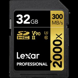 雷克沙 Lexar SD 2000X  32G 300M/S
