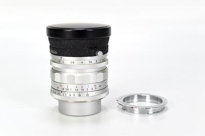 95新二手福伦达 28/1.9 M9螺口+M39转接环镜头银色 回收110106