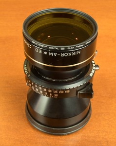 尼康 NIKKOR-AM * ED 210/5.6 金圈微距 大画幅镜头 微距覆盖8x10