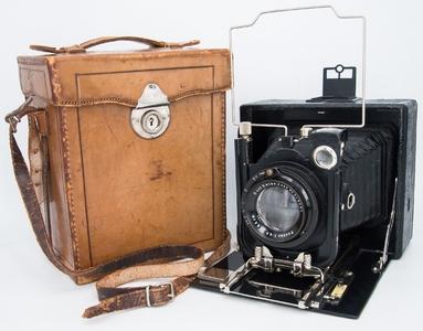 德国Ihagee 9x12画幅皮腔干板相机