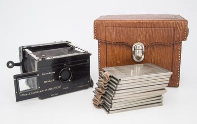 法国Gaumont Block-Notes少见折叠干板相机