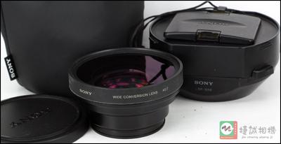索尼VCL-HG0758广角镜广角附加镜头 58mm  遮光罩全套