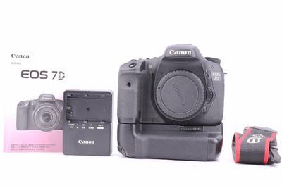 95新二手 Canon佳能 7D带佳能BG-E7手柄 中端单反相机回收510411