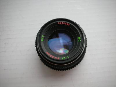 很新珠江50mmf1.7镜头,PK卡口,可配各种数码相机