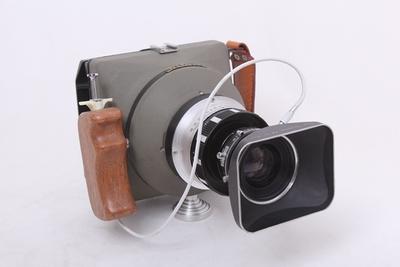 美国航拍机改 4X5大画幅相机 快拍机 马头 TOPCOR 180/5.6镜头