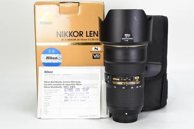 95新二手Nikon尼康 24-70/2.8E ED变焦镜头回收 033637