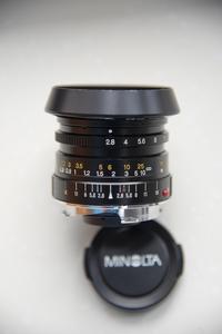 美能达最佳镜头M口28/2.8,赠罕见精美富士原厂徕卡M转接环