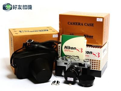 尼康 S3 Limited 2000年限量版套机 连50/1.4镜头 银色*99新连盒*