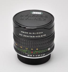 Zenitar/泽尼塔尔16/2.8 Zenit/泽尼特16 2.8 鱼眼 EF卡口